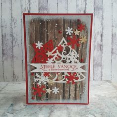 Vánoční přání červené Ladder Decor, Advent Calendar, Holiday Decor, Cards, Home Decor, Decoration Home, Room Decor, Advent Calenders, Maps
