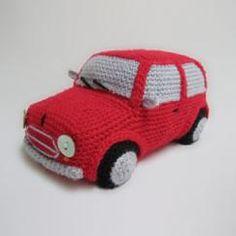Classic Mini Cooper (inspired) Amigurumi Toy Car