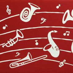 """52 Likes, 2 Comments - RINRIN (@redflatfrog) on Instagram: """"ビーアイ通商/はままつてぬぐい 管楽器 赤。サックスにチューバにトロンボーンetc.が可愛く染められた、楽器の街・浜松らしいてぬ。もう1枚の楽譜柄に合わせてみた。 #今日の手ぬぐい #手ぬぐい…"""""""