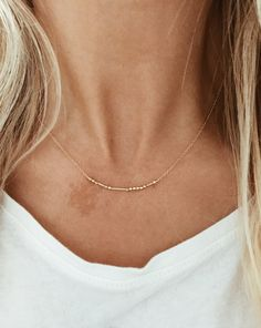 CUSTOM Morse Code Necklace in 14/20 Gold-fill or by JAYNEandJAMES