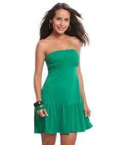 Vestido Tomara que Caia Verde Bandeira! http://www.desfilar.com.br/