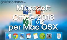 Office 2016 completamente nuovo grazie alle moderne versioni di Word, Excel, PowerPoint, Outlook e OneNote disponibili per Mac.