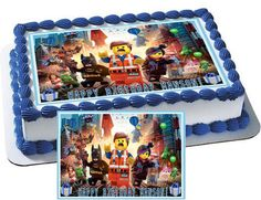 Lego Movie Characters Edible Cake & by CakeTopperSpecialist