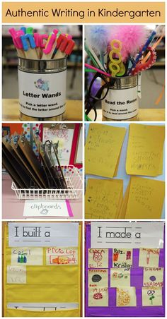 Omg love these letter wands! Brilliant and simple idea. You could just simply write the letter in marker on a fat Popsicle stick- lower case on one end, upper case on the other. Same idea!  @balancedlitdiet --> creative ways to support authentic reading and writing experiences for your kindergarteners!