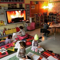 It's cold and rainy days like these that make me miss putting on my fireplace in my cozy classroom! ❤️