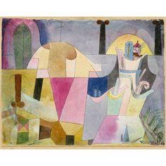 Black Columns in Landscape 1919 Canvas Art - Paul Klee (24 x 36)