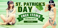 #STPATRICKSDAY #SALE on #Sheinside |  #free #items #freegift #gifts #sale #discount #code  http://www.sheinside.com/buy-one-vc-735.html?aff_id=1417