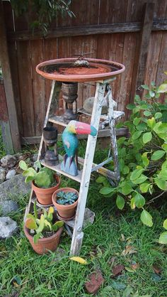 diy birdbath.  already have one but am looking to expand the collection...