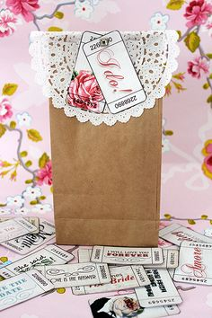 DIY wedding favor  (OR cute wrap idea for a girl with a different tag!)