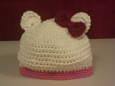 Miss O is my niece and also my Goddaughter. This little hat was conjured up with her sweet face in my mind.   I'm kicking myself for not...