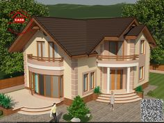 Modern Bungalow House, Small House Exteriors, Simple House Design, Modern House Design, Design Case, Wall Design, Story House, My House, Rock Garden Design