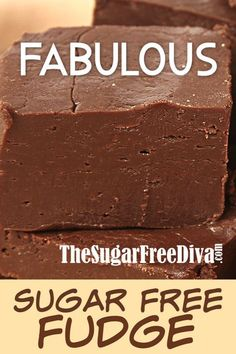 Enjoy this Fabulous Sugar Free Fudge recipe that is simple to make as well. This fudge is delicious and it has not added sugar to the recipe. Sugar Free Fudge, Sugar Free Baking, Sugar Free Sweets, Sugar Free Recipes, Sugar Free Snacks, Diabetic Desserts, Diabetic Recipes, Low Carb Recipes, Diabetic Foods