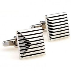 The Striped Enamel is a simple design with fine detail. These silver cufflinks are a classic that belong in every man's collection. French Cuff Shirt Men, Hair Jewelry, Fashion Jewelry, Shirt Cuff, Men's Collection, Simple Designs, Men Dress, Plating, Cufflinks