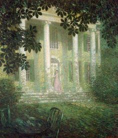 A Summer's Night at Florence Griswold House, 1906, oil on canvas, Florence Griswold Museum, Old Lyme, CT. Will Howe Foote