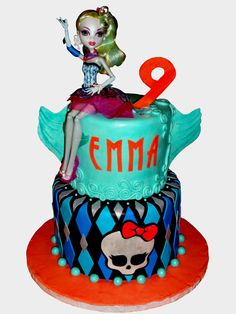 Lagoona Blue Monster High Birthday cake
