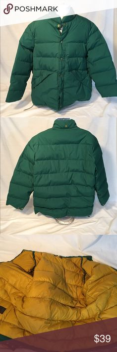 Eddie Bauer EO Goose Down Green Twill XL Jacket Eddie Bauer Expedition Outfitter Goose Down Green Twill XL Winter Jacket Eddie Bauer Expedition Outfitter Goose Down Green Twill XL Winter Jacket  - Yellow EB liner !! Mint!!  - I can't say enough how awesome this jacket is; kinda sad to part with it !!  - Mint Condition as seen in the pics !  - Been in the closet unworn for a minute! - only thing missing is the size XL size tag!  - Buy with confidence; we ship FAST! Eddie Bauer Jackets & Coats…
