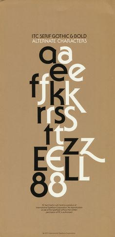 ITC serif gothic alternate characters  WHO can PLS! tell me where to get?...