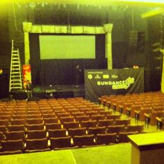Inside the Egyptian theater at sundance 2013 in park city