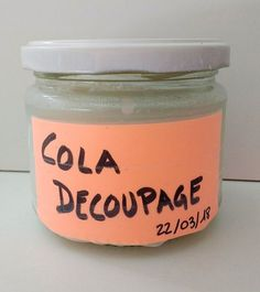Receta de Pegamento para Decoupage (Mod Podge) casero low cost – De Norte A Sur Decoupage Vintage, Cola Decoupage, Decoupage Canvas, Diy And Crafts, Arts And Crafts, Foto Transfer, Decoupage Tutorial, French Cafe, Cute Home Decor