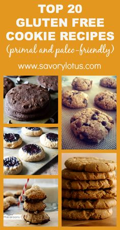 Top 20 Gluten Free Cookie Recipes (primal and paleo-friendly) #WhatTheHack!