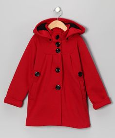 This rich-red, charming coat transforms any little lady into Red Riding Hood. The cozy button-up silhouette keeps chills at bay and adds a fun pop of color to any ensemble. By Beary BasicsCotton / polyesterMachine wash; tumble dryMade in the USA