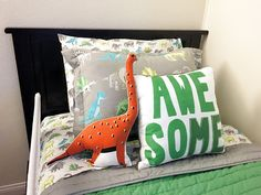 Dinosaur bedding inspiration for little boy's room!