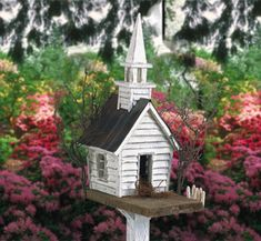 The Winfield Collection - Rustic Church Birdhouse Plan Bird House Plans, Bird House Kits, Decorative Bird Houses, Bird Houses Diy, Fairy Houses, Winfield Collection, Bird House Feeder, Bird Feeders, Wood Plans