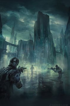 Dystopia by jcbarquet military police snipers runner city capitol future landscape location environment architecture | Create your own roleplaying game material w/ RPG Bard: www.rpgbard.com | Writing inspiration for Dungeons and Dragons DND D&D Pathfinder PFRPG Warhammer 40k Star Wars Shadowrun Call of Cthulhu Lord of the Rings LoTR + d20 fantasy science fiction scifi horror design | Not Trusty Sword art: click artwork for source