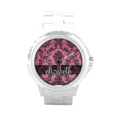 $$$ This is great for          	Pink & Black Vintage Damask Pattern with Monogram Wrist Watch           	Pink & Black Vintage Damask Pattern with Monogram Wrist Watch We provide you all shopping site and all informations in our go to store link. You will see low prices onHow to         ...Cleck Hot Deals >>> http://www.zazzle.com/pink_black_vintage_damask_pattern_with_monogram_watch-256215663481178646?rf=238627982471231924&zbar=1&tc=terrest
