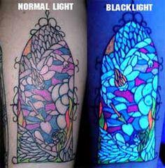 New: UV Tattoos / Blacklight Tattoos / Special ink Tattoos