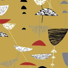 Calyx fabric by Lucienne Day - Britain Can Make It