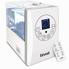Levoit Humidifiers for Bedroom with Remote, 6L Large Capacity Cool and Warm Mist Whisper-quiet Ultrasonic Air Humidifier Vaporizer,…