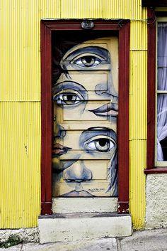 """Eye door"" -  Valparaiso, Chile, by Byron Ellis Photography, via Flickr."