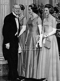 The Royal Watcher - King Gustaf Adolf of Sweden with his granddaughters Princesses Margrethe, Benedikte and Anne-Marie of Denmark