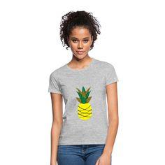 Geschenke Shop | Ananas - Frauen T-Shirt T Shirt Designs, Pullover, T Shirts For Women, Summer, Tops, Fashion, Pineapple, Funny Presents, Women's T Shirts