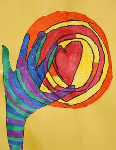 3rd grade students at Meeting Street Academy in Charleston, SC use bold shapes and vibrant colors to create artwork for the Warm Hearts, Cool Hands project.  MSA founder Ben Navarro champions educational opportunities for under-resourced  families. Elementary art education is a key component of his vision. #MeetingStreetAcademy #Art #Education #Colors #Markers #SCSchools #BenNavarro #ShermanFinancialGroup