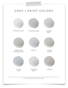 Sharing my favorite Valspar Gray paint colors! Choosing gray for your home can be hard, but narrowing it down to a few choices make it easy! Lowes Paint Colors, Light Grey Paint Colors, Office Paint Colors, Bathroom Paint Colors, Paint Colors For Home, Light Grey Walls, Paint Colours, Wall Colors, House Colors