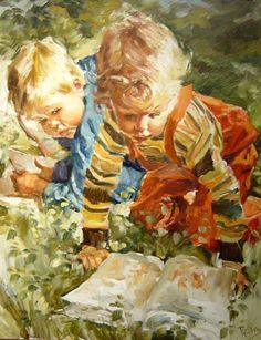 Magyar művész   Charles Roka   Gyermekkori Festmények