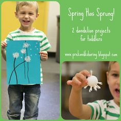 2 dandelion art projects for toddlers :)