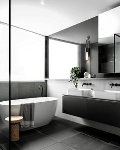 Eye-Opening Unique Ideas: Minimalist Home Dark Modern Bathrooms minimalist interior bedroom closet ideas.Bohemian Minimalist Home Inspiration minimalist kitchen window dining tables.Bohemian Minimalist Home Inspiration. Minimalist Bathroom Design, Minimalist Kitchen, Minimalist Interior, Minimalist Bedroom, Bathroom Interior Design, Minimalist Decor, Minimalist Design, Modern Minimalist, Minimalist Living