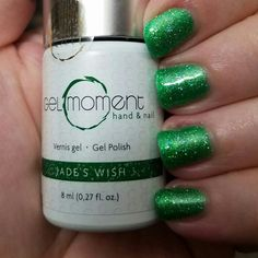 Jade's Wish - GelMoment. Love this color! Liquid Nails, Gel Nails, Tropical Nail Designs, Gel Polish, Jade, Messages, Colours, Artwork, Gel Nail