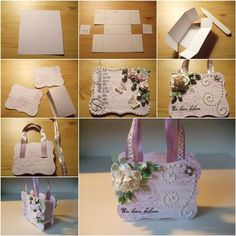How to DIY Handbag Style Paper Gift Basket | iCreativeIdeas.com Like Us on Facebook ==> https://www.facebook.com/icreativeideas