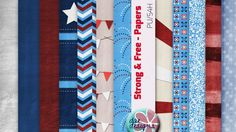Strong & Free Papers by Dae Designs