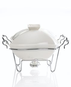"Godinger ""Siena"" White Covered Baker, 1 Qt. - for entertaining?"