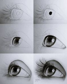 Pencil Drawings Tutorials Drawing-Tutorial-for-Occasional-Artists - While there are tons of things out there to draw, it is not simple always. However, these Drawing Tutorial for Occasional Artists will help you out. Pencil Art Drawings, Easy Drawings, Drawing Sketches, Drawing Art, Sketches Of Eyes, Easy Portrait Drawing, Drawing Techniques Pencil, Pencil Drawings For Beginners, Pencil Sketching