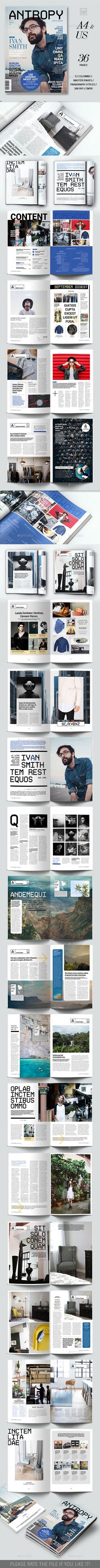 Multipurpose Magazine | Print templates, Adobe indesign and Magazine ...