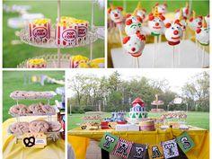 @Isidra Arzuaga - circus first birthday party treat table