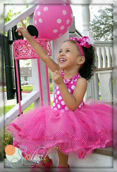 Minnie Mouse Themed Tutu Dress In Pink Polka Dots por SCbydesign, $58,49