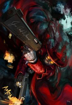 """Checkmate"" by Thailand-based Rusharil Hutangkabodee ( Rusharil ) Hellsing Fan Art featuring Alucard Let me just say this. Hellsing Alucard, Seras Victoria, Otaku, Real Vampires, Corpse Party, Fan Art, Animes Wallpapers, Anime Comics, Anime Love"