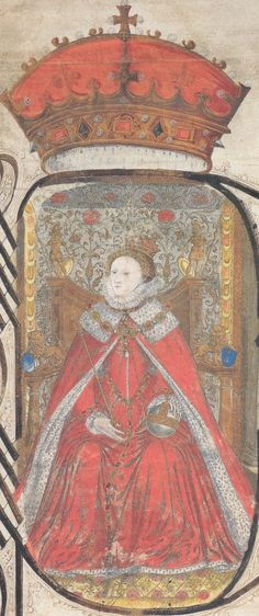From the Coram Rege Roll in 1581. Another beautiful, simple statement of the Queen's royalty.
